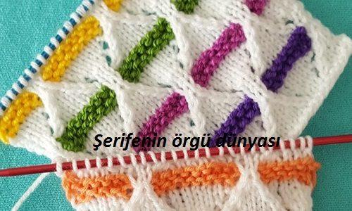 renkli kemerler örgü modeli (3)