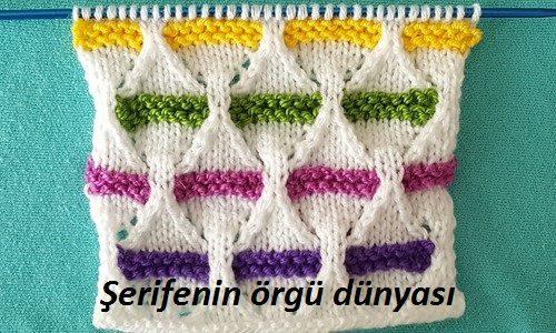 renkli kemerler örgü modeli (5)