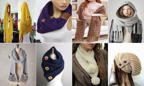 yeni sezon örgü bayan şapka ve kaşkol modelleri (123