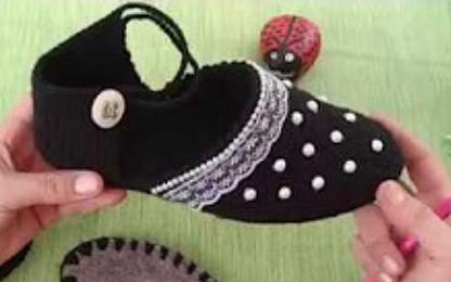 incili ev ayakkabısı yapımı