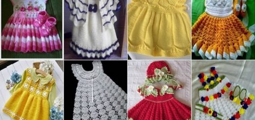 küçük hanımlara örgü elbise modelleri (132