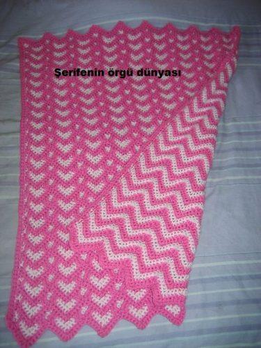 sevgi bahçesi tığ işi battaniye modeli (1)