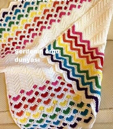 sevgi bahçesi tığ işi battaniye modeli (9)