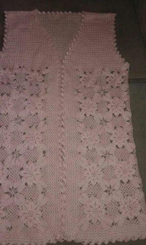 tığ işi çiçek motifli yelek (3)