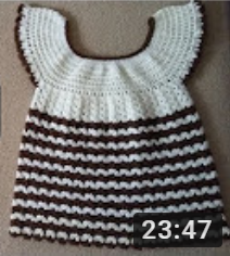 tığ işi kız bebek elbise modeli