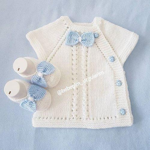 yandan düğmeli kolay bebek yeleği (2)