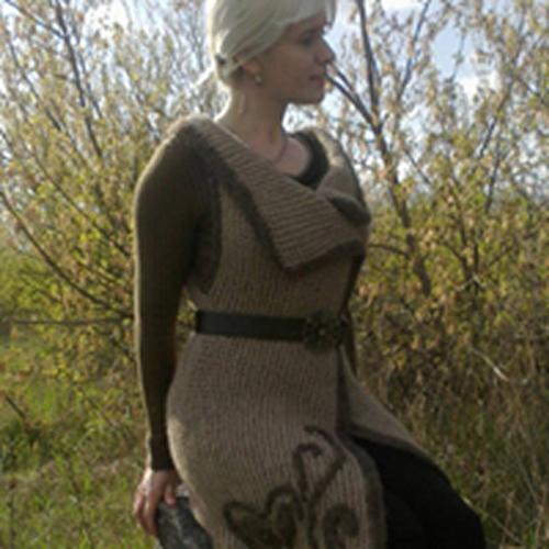 kemerli örgü genç bayan yelek modelleri (2)
