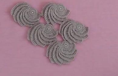 üçgen incili midye şal modeli