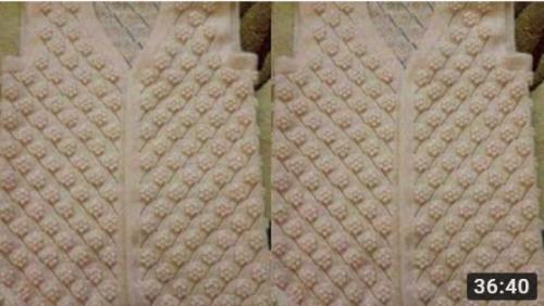 şişle yapılan fıstıklı yelek modeli