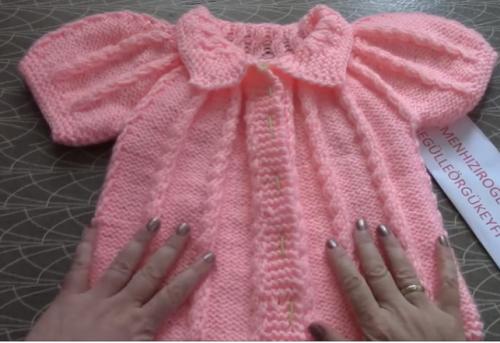 burgulu robalı bebek yeleği modeli