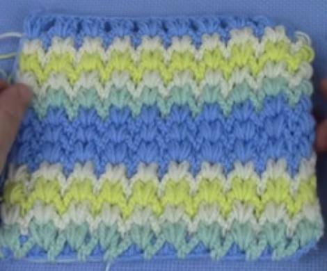 fıstıklı bebek battaniyesi lif modeli