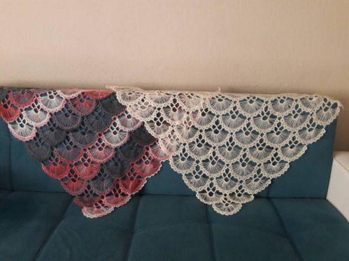 kart ile üçgen şal yapımı (2)