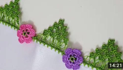 çiçek motifli dağ oyası yapımı