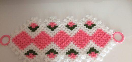 çiçekli uzun kese lif yapımı (2)