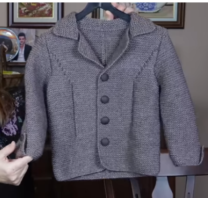 4-5 yaş erkek çocuklara örgü blazer ceket yapımı