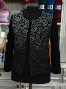 batik iple zincir işi bayan hırka yapımı