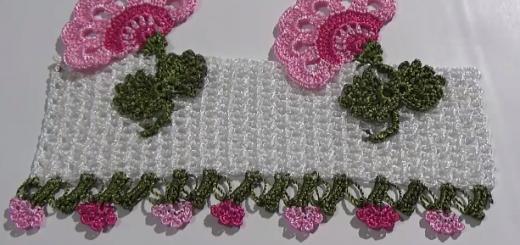 en yeni tığ işi tasarım havlu kenarı modeli