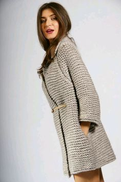 genç hanımlar için uzun örgü hırka modelleri (54)