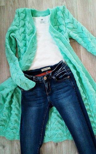 genç hanımlar için uzun örgü hırka modelleri (59)