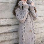 genç hanımlar için uzun örgü hırka modelleri (5)