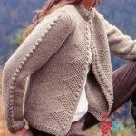 genç hanımlar için uzun örgü hırka modelleri (60)