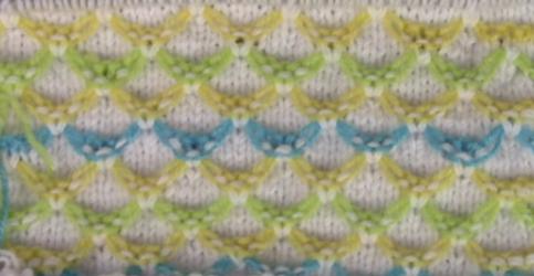 renkli fiyonklar bebek örgüsü modeli