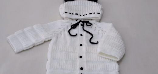 kapşonlu selanik model bebek hırkası yapımı