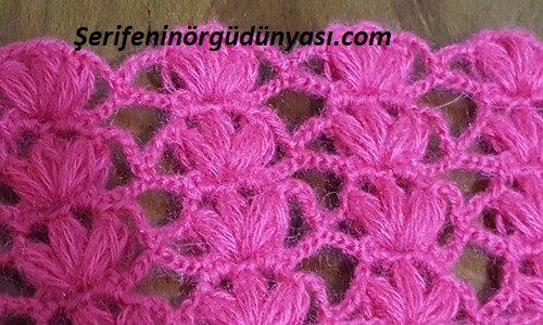pembe çiçekli tığ yelek modeli (2)