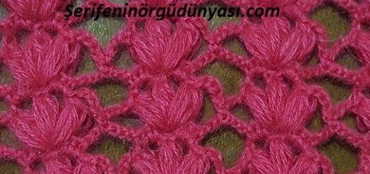pembe çiçekli tığ yelek modeli (6)