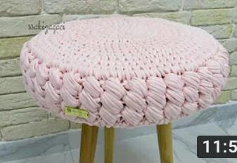 penye iple örgü tabure yapımı