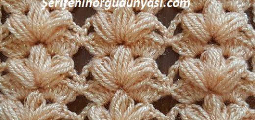 tığ işi çiçekli lif ve şal modeli (1)