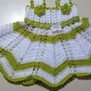 tığ işi kız çocuk elbise modeli yapımı