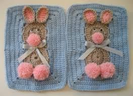 tığ işi tavşanlı bebek battaniyesi modeli (7)