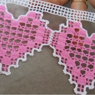kalpli tığ havlu kenarı modeli