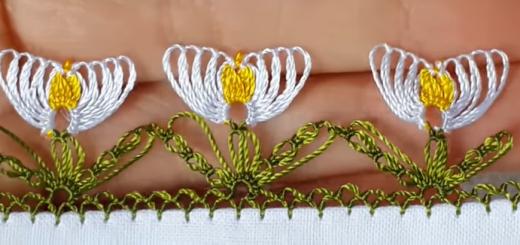 kardelen çiçeği iğne oyası yapımı