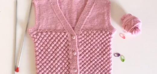 nohut modeli ile parçalı bebek yeleği yapımı