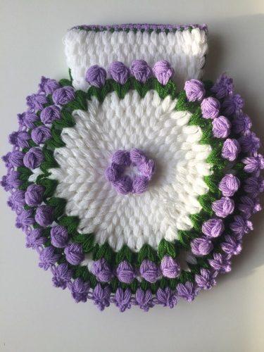 3 boyutlu çiçekli kese lif yapımı (2)