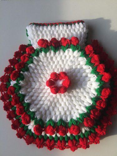 3 boyutlu çiçekli kese lif yapımı (3)