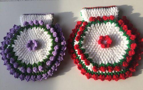 3 boyutlu çiçekli kese lif yapımı (1)