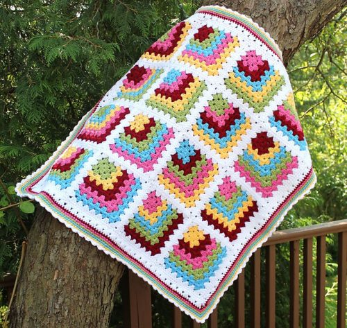 dilimli görünen motifli battaniye yapımı (3)