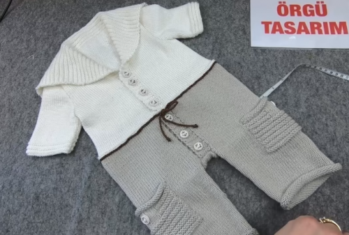 erkek çocuklar için pantolonlu gömlek tulum yapımı