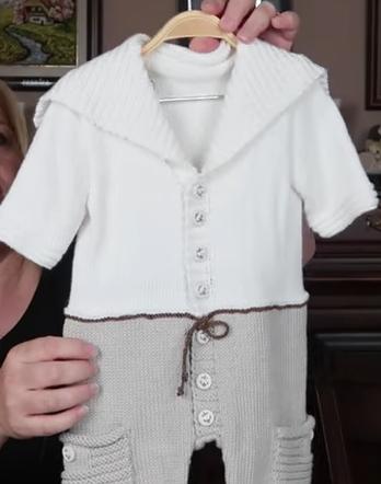 gömlekli erkek bebek örgü tulumu