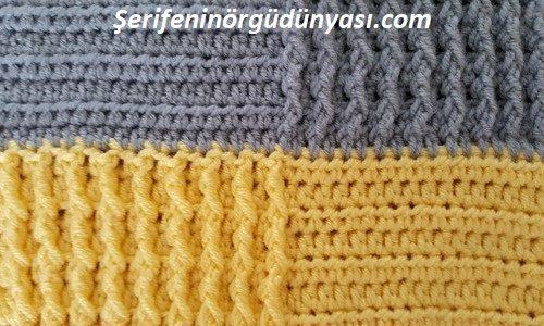 kare desenli tığ işi battaniye modeli yapımı (15)