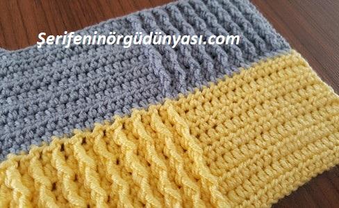 kare desenli tığ işi battaniye modeli yapımı (16)