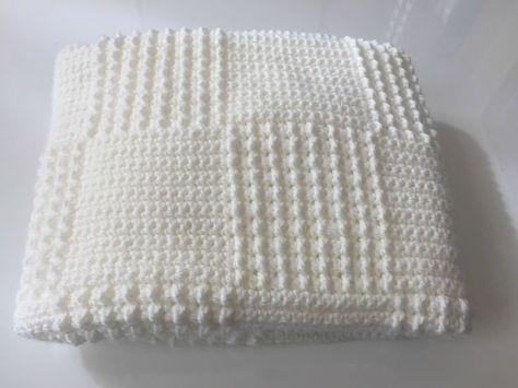 kare desenli tığ işi battaniye modeli yapımı (7)