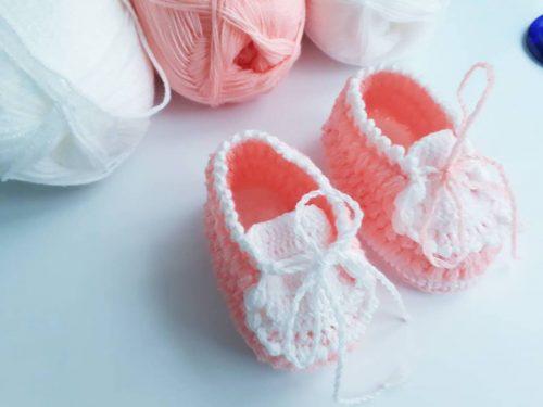neşeli ayaklar tığ işi bebek patiği yapımı (3)