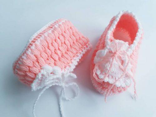 neşeli ayaklar tığ işi bebek patiği yapımı (4)