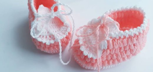 neşeli ayaklar tığ işi bebek patiği yapımı (5)
