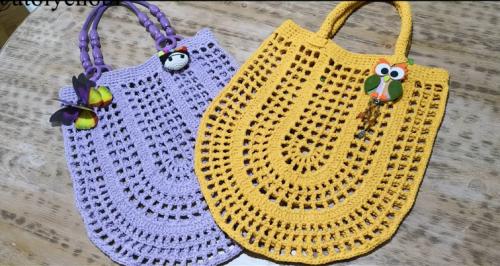 yazlık oval file çanta yapımı