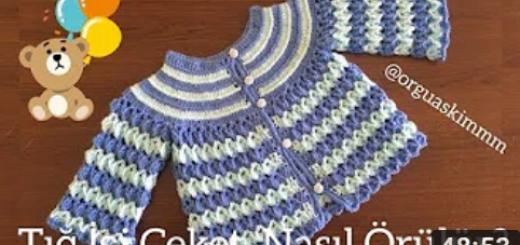 iki renkli tığ işi bebek ceketi yapımı.png3